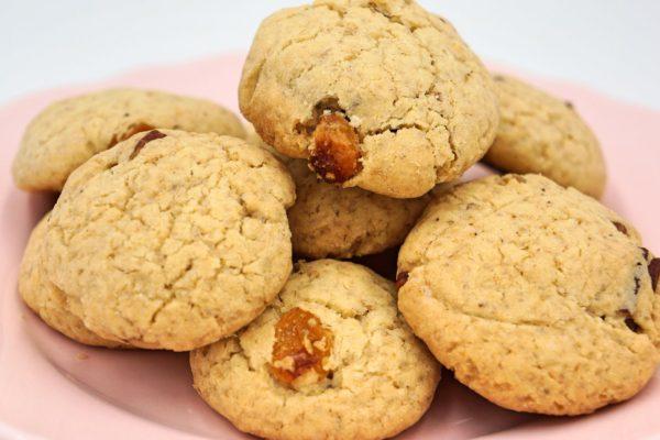 Cookies au noix de pécan et raisins sec sans gluten Atelier P'tits Délices