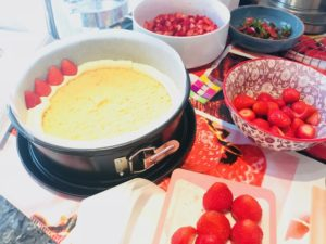 préparation fraisier